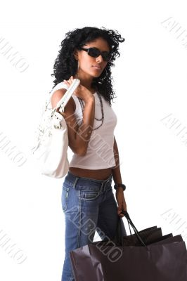 Posh shopping girl