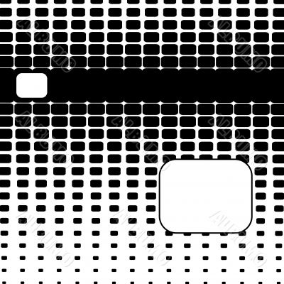 Rounded Halftone Abstract Background
