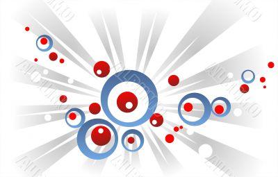 Red-blue circles and beams