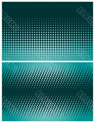 Two variants / abstract halftone backgrounds