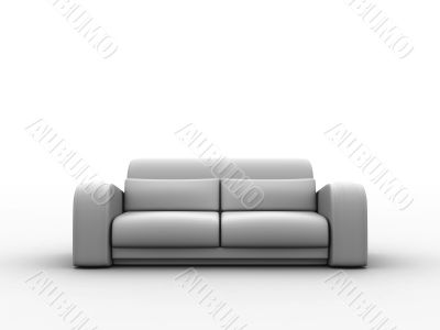 sofa in neutral tones