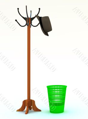 floor peg and refuse bin