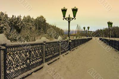 foot-bridge with lanterns