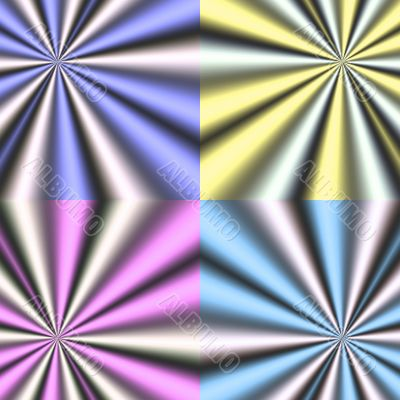 generated coloured rays