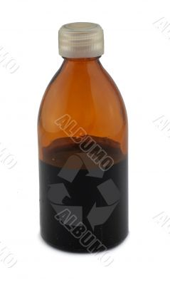 bottle with recycle symbol