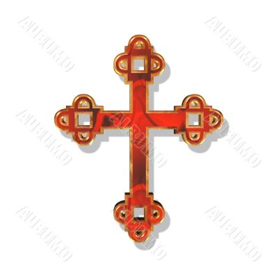 red and golden cross