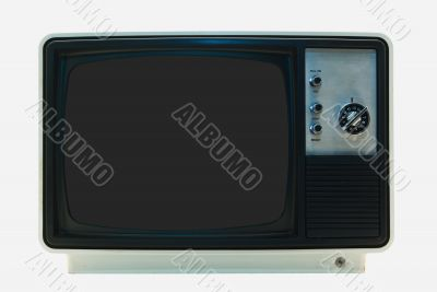 Retro TV - Isolated with Clipping Paths