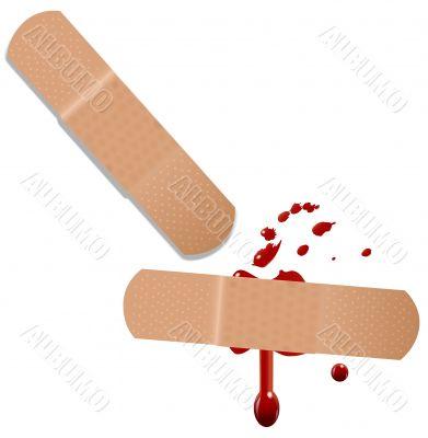 First Aid Help Bandaid Blood