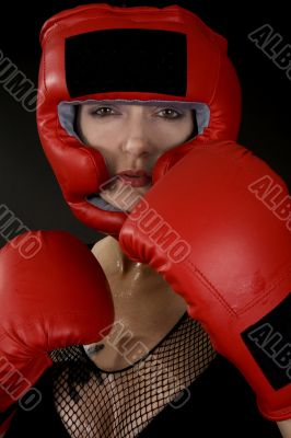 female boxer / boxercise