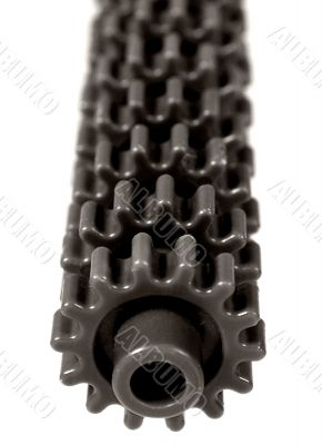 Abstract shot of a set of gears