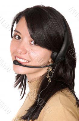 Beautiful Customer Support Girl