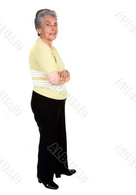 elderly happy woman - full body
