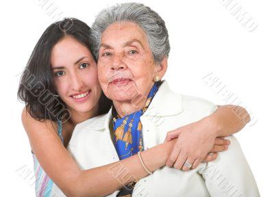 grandmother and her grandchild