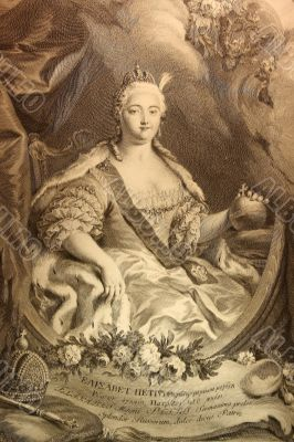 Engraving of the empress