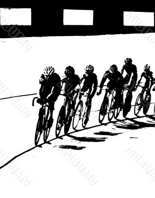 Bicycle Race B&W