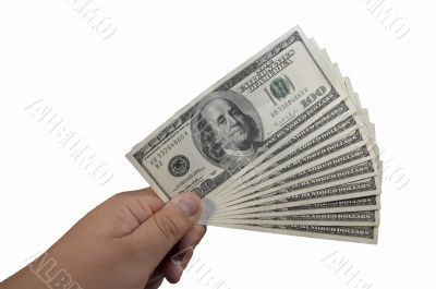 thousand US dollars in hand