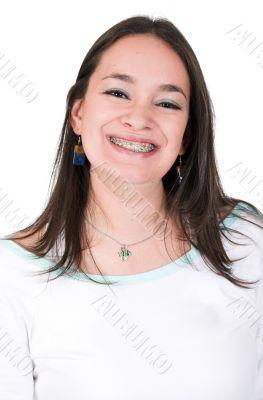 big smile with braces