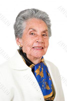 beautiful elderly woman smiling