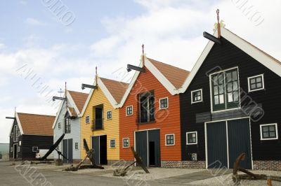 row of harbor ware-houses