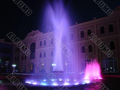 Multi-coloured fountains