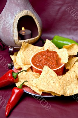 mexican oven, chips and salsa