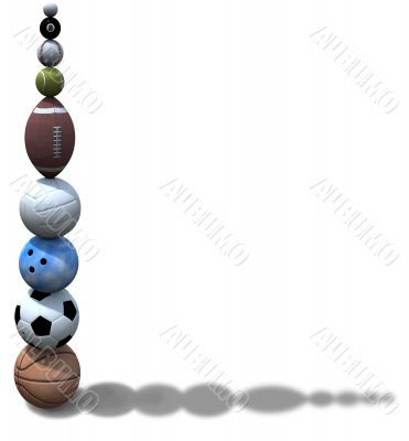 Sports Ball Stack Background
