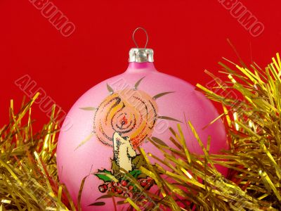 pink christmas bauble 1