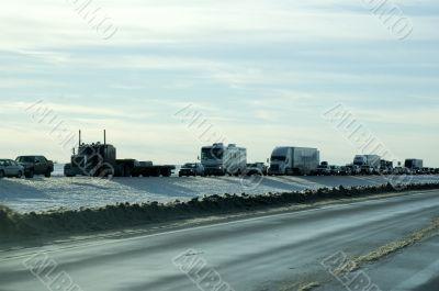 Blizzard Traffic Jam