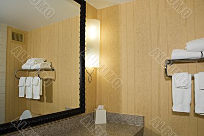 Mirror and towel rack