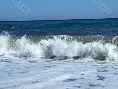 Waves at coast of the Black sea 2
