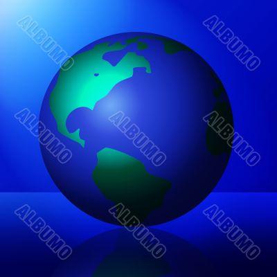 Shiny Planet in the Spotlight