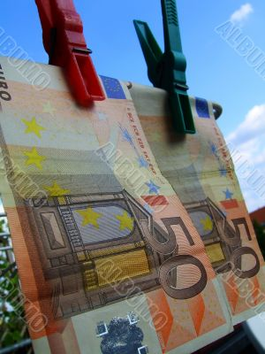 the money laundering