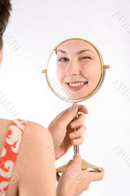 Wink in mirror