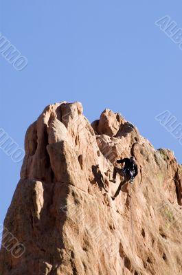 Rock Climber at the Top