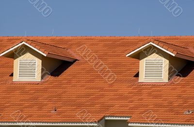 Spanish Tile Roof with Two Dormers