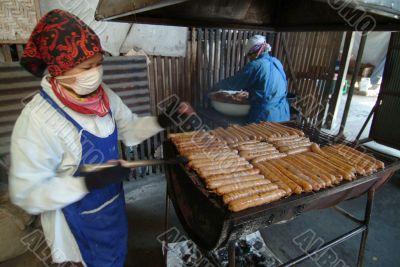Making of Thai Sausages