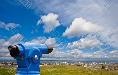 Coin telescope on Edinburgh