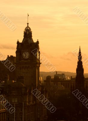 View of Edinburgh at dusk