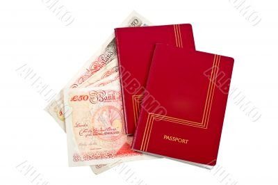 Two passports and money