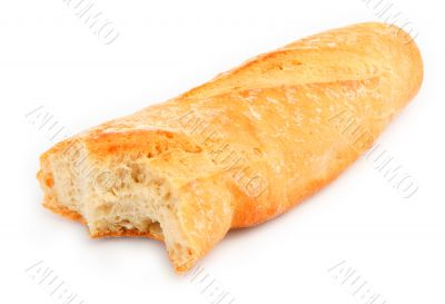 half of baguette