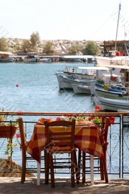 Little greek restaurant by the harbour