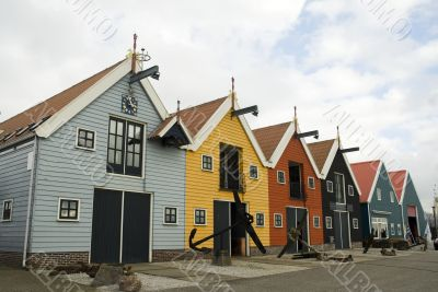 colored ware-houses in harbor