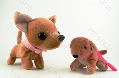 a couple Soft toy dog