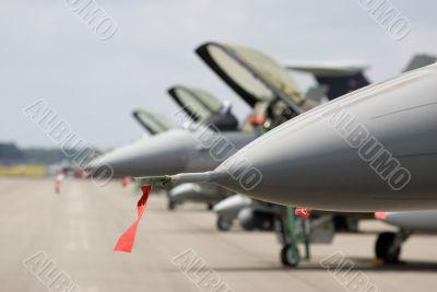 Jet fighter line-up
