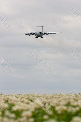 Cargo aircraft landing