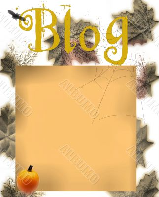 Autumn Themed Blog or Diary Design