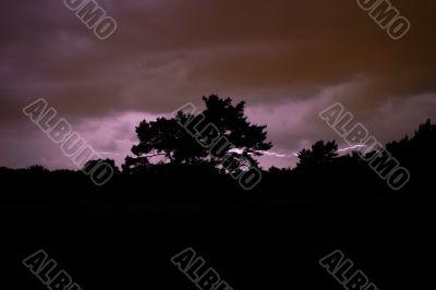 Lightning at the Naarder heath