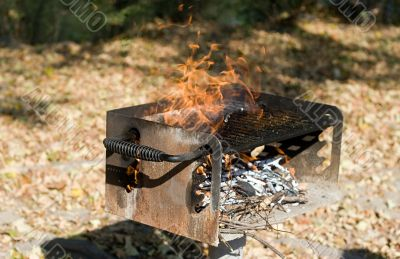 Barbecue Grill fire - Danger