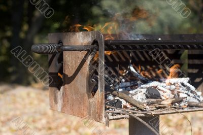 Barbecue Grate with Fire