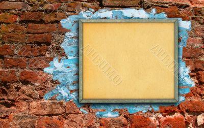 billboard against brick wall